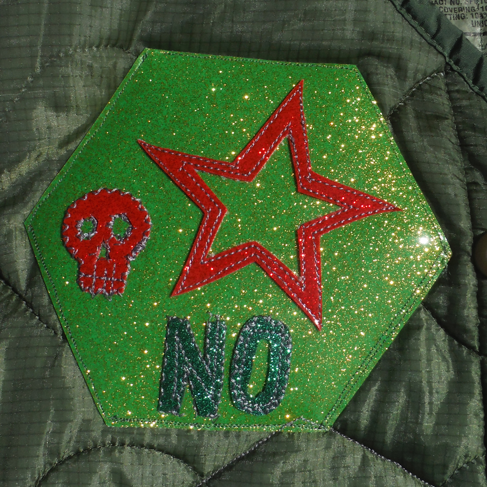 This is a picture of a patch that maybe looks like it comes from a military research facility